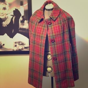 Scottish wool cape. Made in Scotland.
